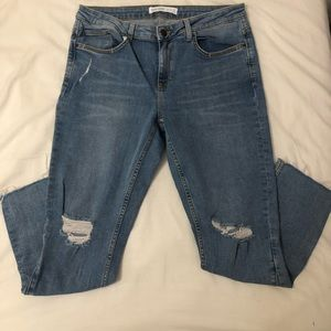 Zara Ripped Blue Denim Jeans